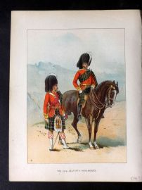 Richards Her Majesty's Army 1890 Military Print. 72nd Seaforth Highlanders